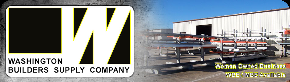 Washington Builders Supply Logo and Warehouse Image